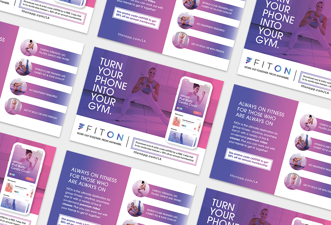 FitOn Marketing Collateral Design Heather Rieder