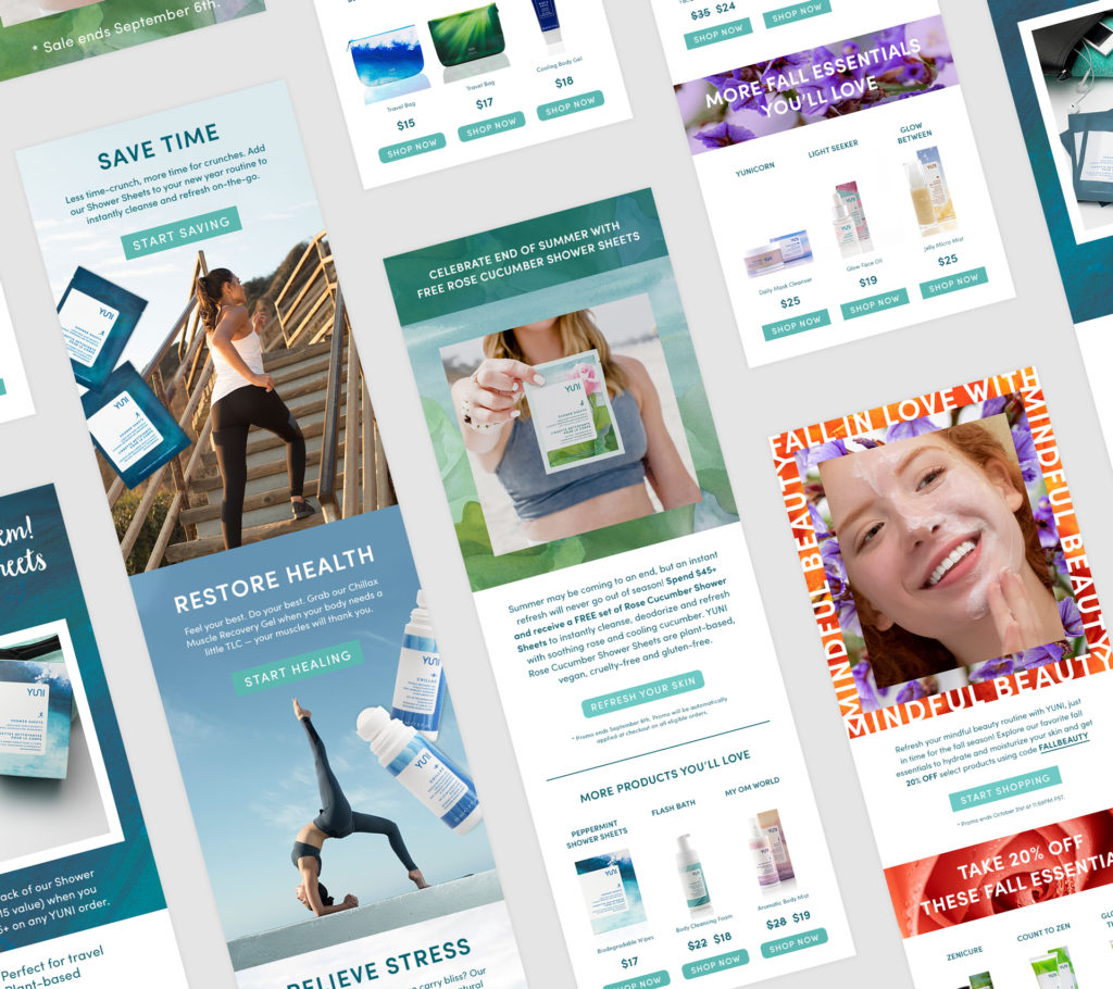 YUNI Beauty Email Marketing Design