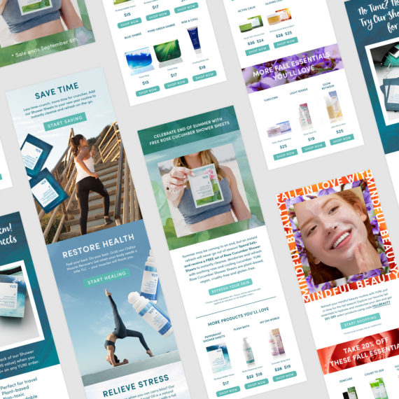 YUNI Beauty Email Marketing Design